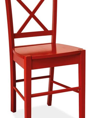 Jídelní dřevěná židle CD-56, červená