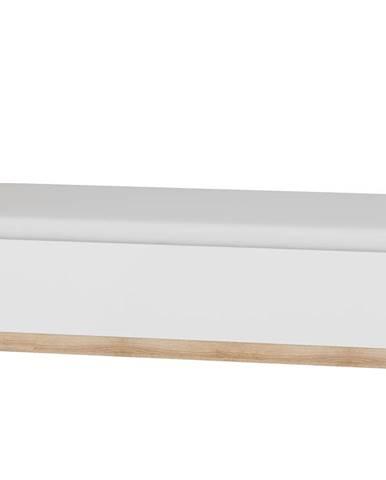 Postel 90x200 MAXIMUS 19, dub sonoma/bílý lesk