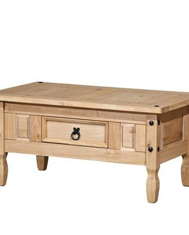 Konferenční stolek CORONA, masiv borovice, vosk