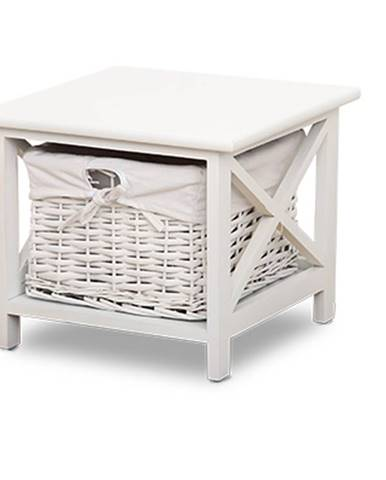 Noční stolek RAFAELLO, bílý