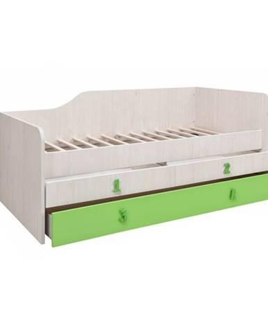NUMERO POSTEL 90 2F, dub bílý/zelená