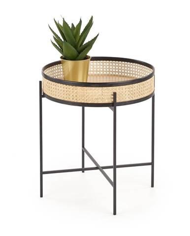 Odkládací stolek LANIPA, přírodní/černá