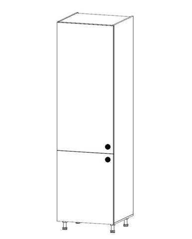 PROWANSJA vysoká skříňka pro vestavnou lednici D60ZL levá, borovice andersen
