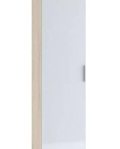 Šatní skříň 1-dveřová TERRA, sonoma/bílá lesk (TERRA SK821-D4 SKŘÍŇ 1D sonoma+bílý lesk 3D)