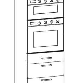 EDAN vysoká skříň DPS60/207 SMARTBOX O, korpus bílá alpská, dvířka dub reveal