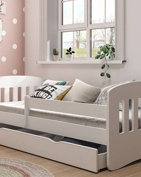 Smartshop Dětská postel CLASSIC 1 80x140 cm, bílá - CLASSIC 1 bed without mattrress