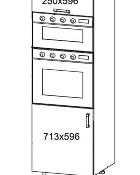 Smartshop IRIS vysoká skříň DPS60/207O levá, korpus wenge, dvířka bílá supermat