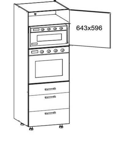 IRIS vysoká skříň DPS60/207 SMARTBOX pravá, korpus wenge, dvířka bílá supermat