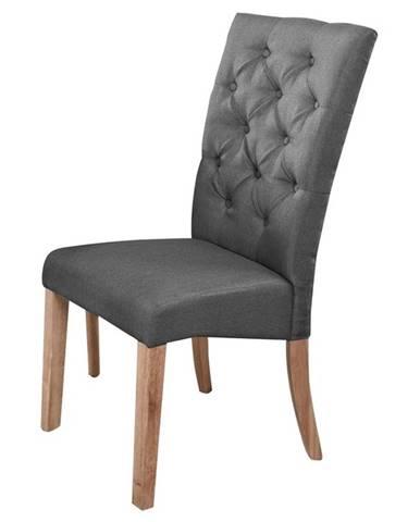 Jídelní čalouněná židle ATHENA, šedá/dub natural