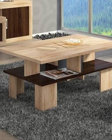 Konferenční stolek SUPRA 2, dub sonoma/dub sonoma tmavá