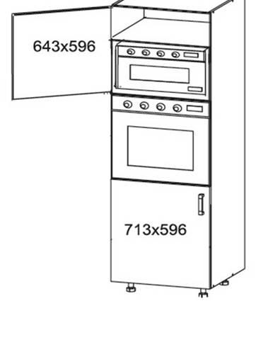 OLDER vysoká skříň DPS60/207, korpus bílá alpská, dvířka trufla mat