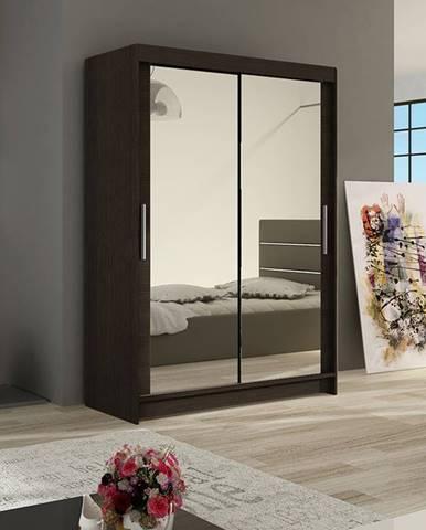 Šatní skříň MIAMII VII, choco/zrcadlo