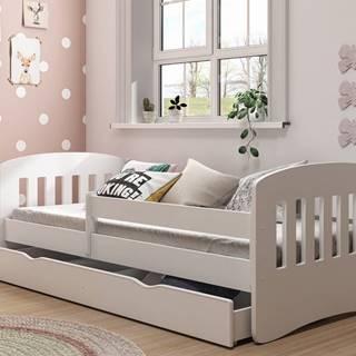 Dětská postel CLASSIC 1 80x140 cm, bílá - CLASSIC 1 bed without mattrress