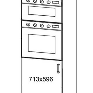 IRIS vysoká skříň DPS60/207O levá, korpus wenge, dvířka bílá supermat