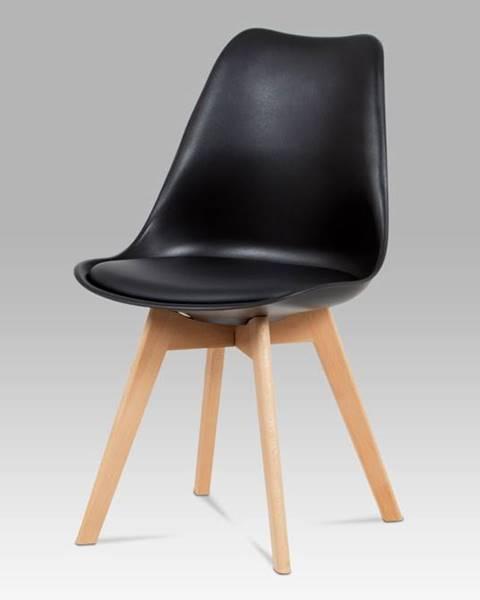 Smartshop Jídelní židle CT-752 BK, černá / masiv buk