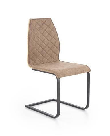 Jídelní židle K-265, hnědá/dub