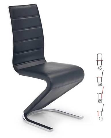 Židle K-194, černá/bílá