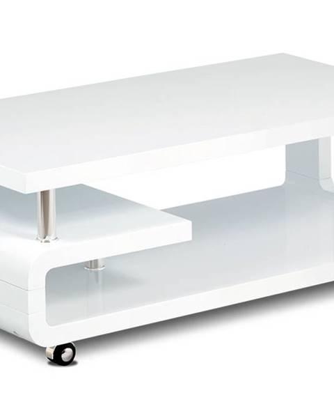 Smartshop Konferenční stolek AHG-616 WT, bílý vysoký lesk