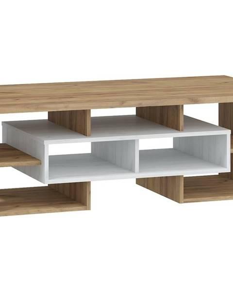 MORAVIA FLAT Konferenční stolek N RIO 11, craft bílý/craft zlatý
