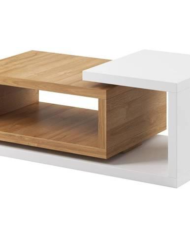 BOTA TYP 97 konferenční stolek, bílá/dub grandson