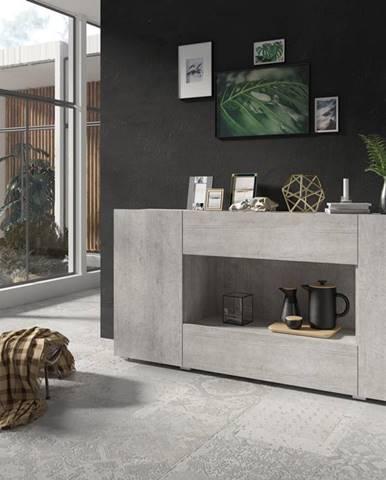DELOS komoda 3D1V TYP 25, beton colorado