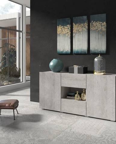 DELOS komoda 3D1V TYP 26, beton colorado