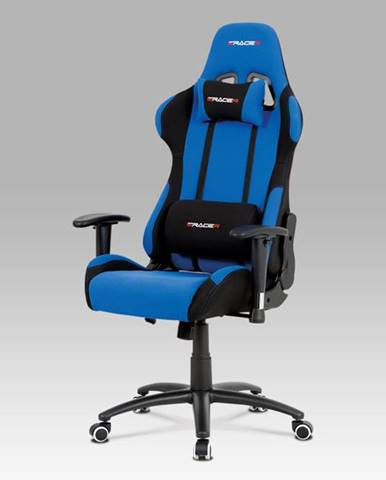 Kancelářská židle KA-F01 BLUE, modrá/černá