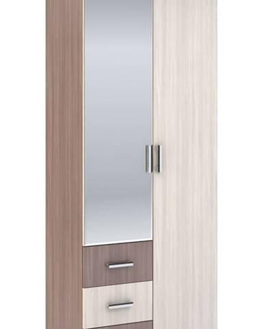 Šatní skříň 2-dveřová ROCHEL 58 cm jasan šimo
