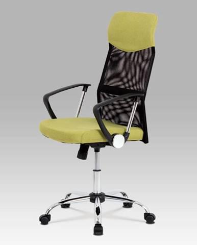 Kancelářská židle KA-E301 GRN, černá/zelená