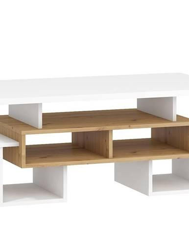 Konferenční stolek S RIO 12, dub artisan/bílá