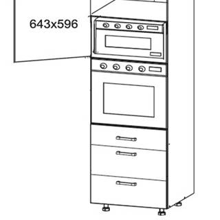 SOLE vysoká skříň DPS60/207 SMARTBOX levá, korpus wenge, dvířka dub arlington
