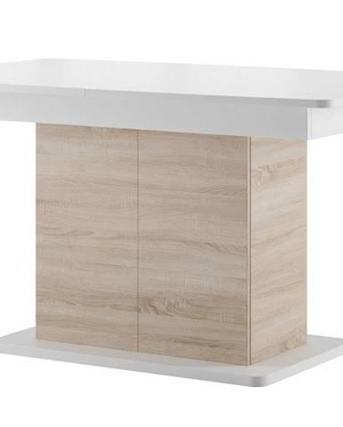 Jídelní stůl rozkládací STAR 03, dub sonoma/bílá