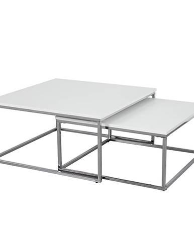 Konferenční stolek ENISOL, chrom/bílý mat