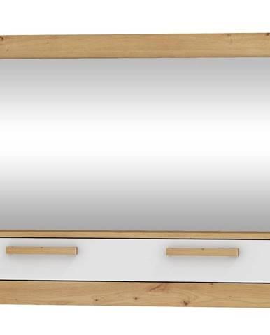 Zrcadlo 1D MAXIM 14, dub artisan/bílý lesk