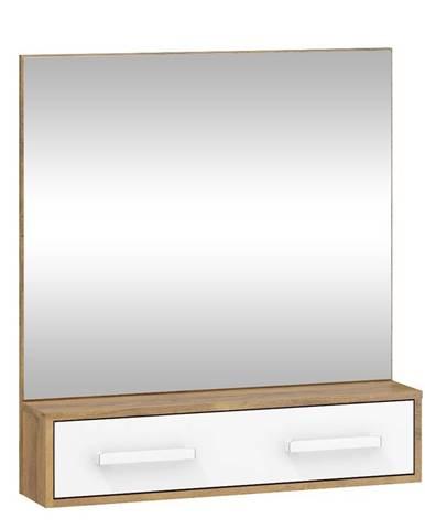 Zrcadlo RIO 10, dub burgundský/bílá