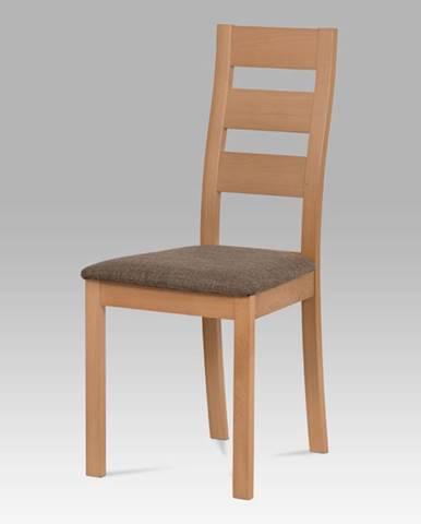 Dřevěná židle BC-2603 BUK3, buk/potah hnědý