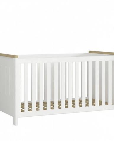 DREVISO BABY dětská postýlka 70x140, bílá/dub westminster