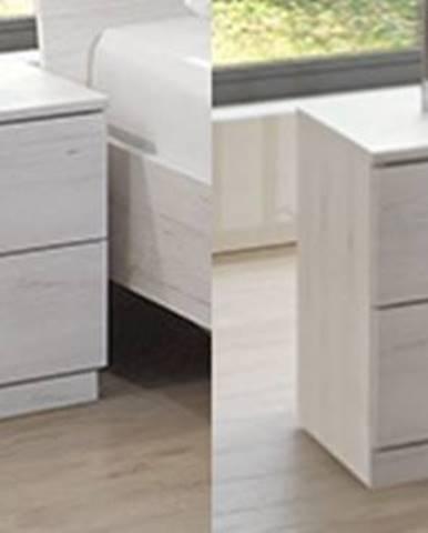 SUSAN, noční stolek (2 ks ), bílý dub