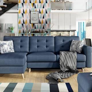 Rohová sedačka ASGARD L Asg 11 univerzální, šedo-modrá