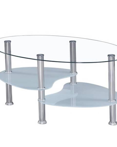 Smartshop WAVE NEW konferenční stolek, ocel/sklo