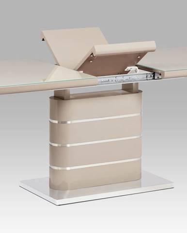 Jídelní stůl HT-442 CAP, vysoký lesk cappuccino/sklo cappuccino