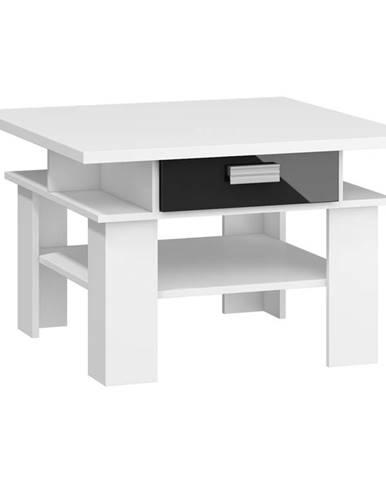 SOLO, konferenční stolek, bílá/černý  lesk