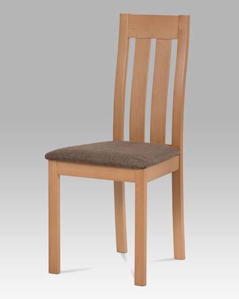 Smartshop Dřevěná židle BC-2602 BUK3, buk/potah hnědý