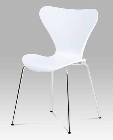 Jídelní židle AURORA WT, chrom / bílá