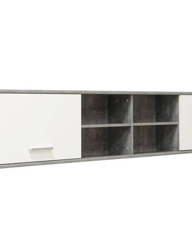 Závěsná skříňka LUPO LPH01, beton/bílá