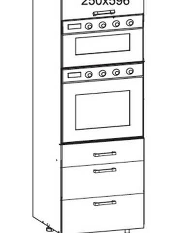 IRIS vysoká skříň DPS60/207 SMARTBOX O, korpus šedá grenola, dvířka bílá supermat
