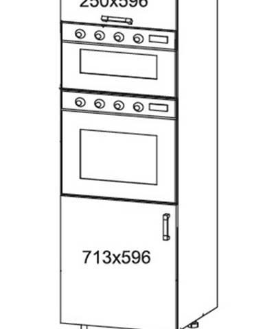 IRIS vysoká skříň DPS60/207O levá, korpus šedá grenola, dvířka bílá supermat