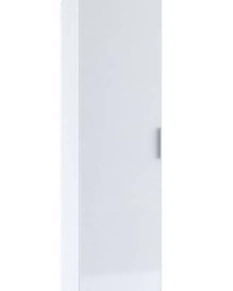 Smartshop Šatní skříň 1-dveřová TERRA, bílá/bílý lesk