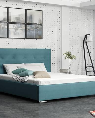Čalouněná postel SOFIE 1 160x200 cm, modrá látka