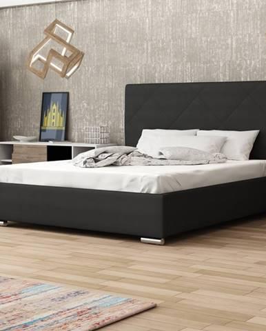 Čalouněná postel SOFIE 5 160x200 cm, černá látka